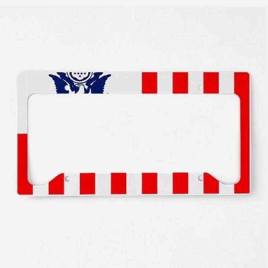 3-USCG-Flag-Ensign-Full-Color License Plate Holder