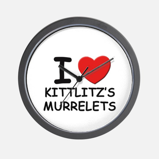 I love kittlitz's murrelets Wall Clock