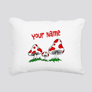 Shrooms Rectangular Canvas Pillow