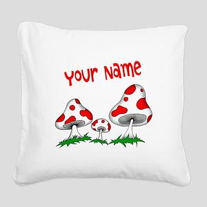 Shrooms Square Canvas Pillow