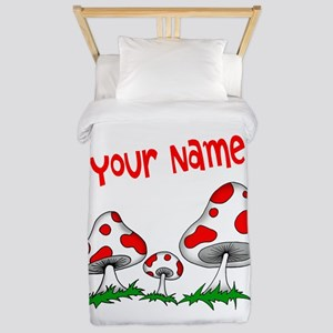 Shrooms Twin Duvet Cover