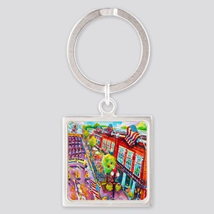 A Perrysburg Parade Square Keychain