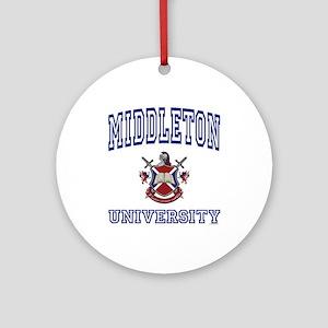 MIDDLETON University Ornament (Round)