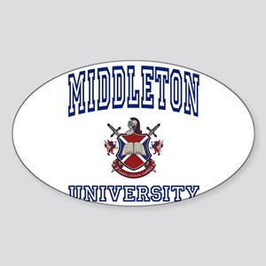 MIDDLETON University Oval Sticker