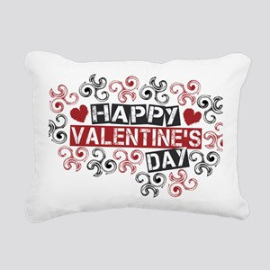 happy valentine's day tw Rectangular Canvas Pillow