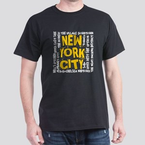NYC_neighborhoods Dark T-Shirt