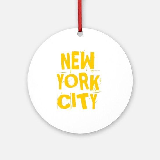 NYC_neighborhoods Round Ornament