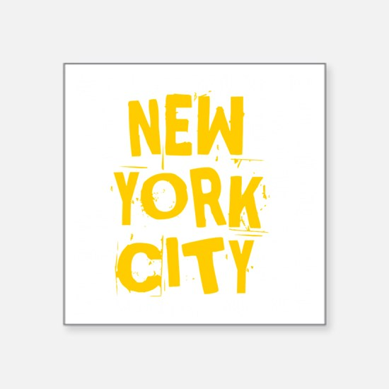"NYC_neighborhoods Square Sticker 3"" x 3"""