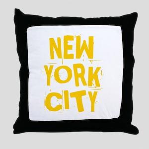 NYC_neighborhoods Throw Pillow