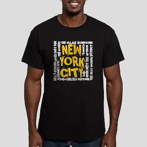 NYC_neighborhoods Men's Fitted T-Shirt (dark)