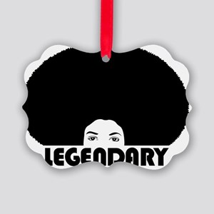 afro_legendary_white_shirt Picture Ornament