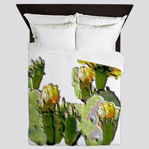 2-CACTUS FLOWER Queen Duvet