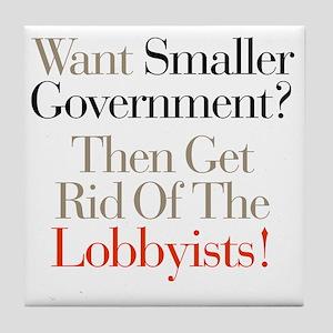 Lobbists Tile Coaster