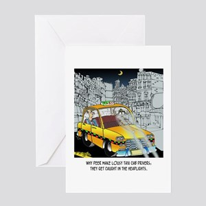 Deer Make Bad Taxi Drivers Greeting Card