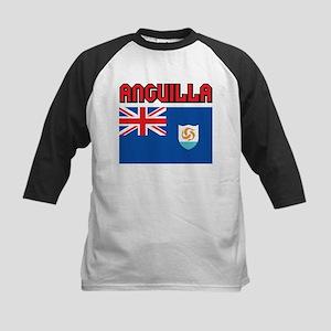 Anguilla Flag Kids Baseball Jersey