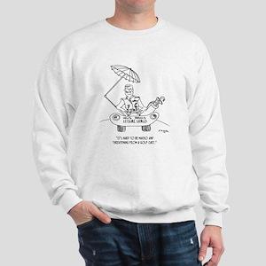 Looking Macho in a Golf Cart Sweatshirt