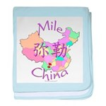 Mile China Map baby blanket