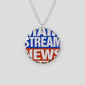 Mainstream_News Necklace Circle Charm