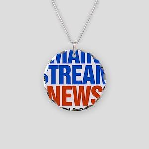 Mainstream_News_2 Necklace Circle Charm