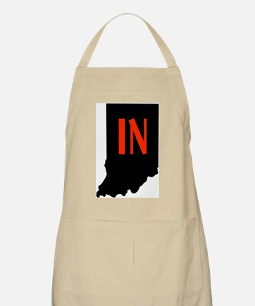IN in Indiana BBQ Apron