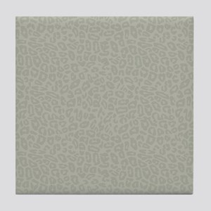 Gold Cheetah Print Tile Coaster
