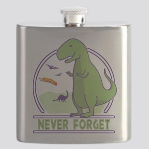 Never Forget Dinosaurs Flask