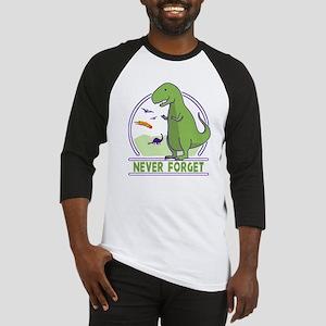 Never Forget Dinosaurs Baseball Jersey