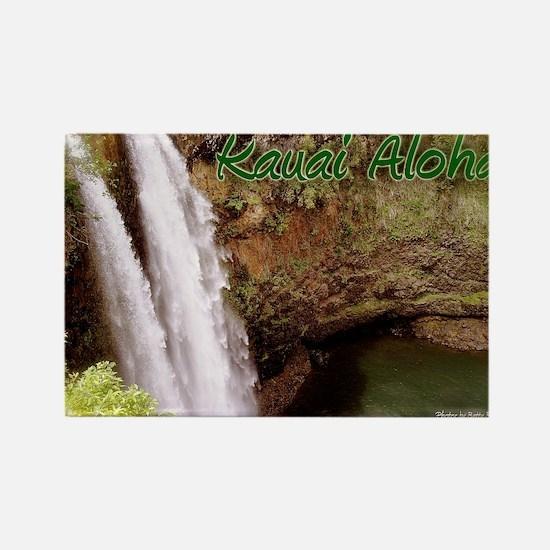 Kauai_Aloha Rectangle Magnet