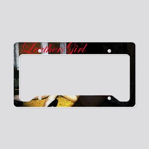 Leathergirl Cafe Press Pic pn License Plate Holder