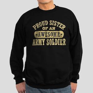 Proud Army Sister Sweatshirt (dark)