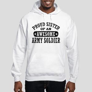 Proud Army Sister Hooded Sweatshirt