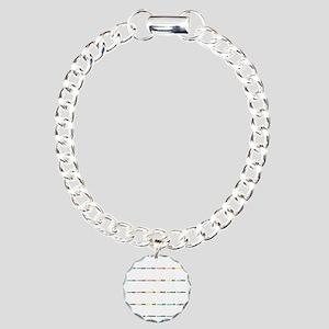 10X10 Arabic Alphabet up Charm Bracelet, One Charm