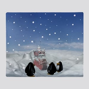 Sleeping with the Penguins Throw Blanket