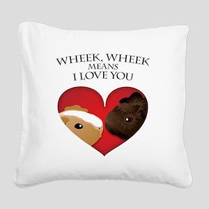 wheekwheek Square Canvas Pillow