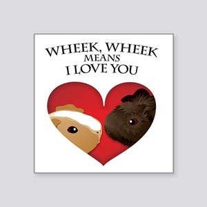 "wheekwheek Square Sticker 3"" x 3"""
