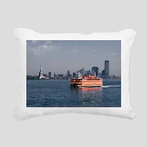 (2) Staten Island Ferry Rectangular Canvas Pillow