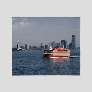 (2) Staten Island Ferry Throw Blanket