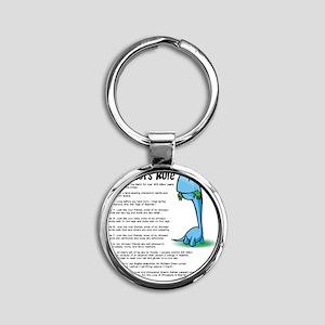 Dinosaur5 Round Keychain