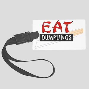 C-213 (eat dumplings) Large Luggage Tag