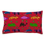 Animals Purple Turtles Blue Elephant Pillow Case