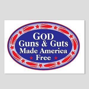 god guns guts Postcards (Package of 8)
