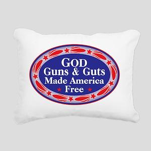 god guns guts Rectangular Canvas Pillow