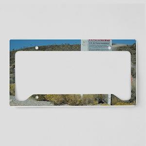 Groom Lake Road Warning Sign License Plate Holder