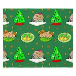 Christmas Trees, Cookies King Duvet