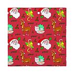 Santa, Reindeer, Cookies Queen Duvet
