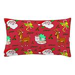 Santa, Reindeer, Cookies Pillow Case