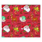 Santa, Reindeer, Cookies King Duvet