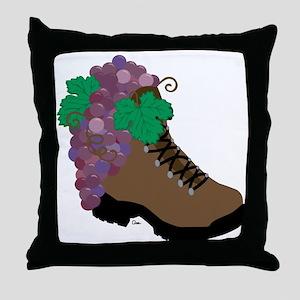 Wine Boot-round Throw Pillow