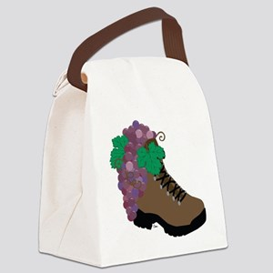 Wine Boot-round Canvas Lunch Bag