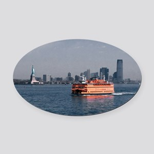 (6) Staten Island Ferry Oval Car Magnet